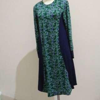 Dress selutut bahan korea meral mulusss