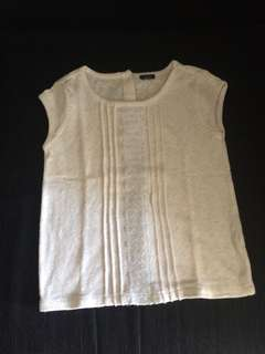 Baby gap top white