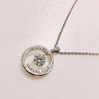 925銀戒指式鑽石項鍊