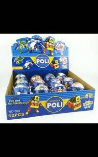 Robocar poli building blocks egg