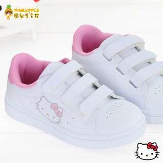《鳳梨屋童鞋》Hello Kitty 凱蒂貓 甜美清新佳人百搭休閒鞋 板鞋【K18630-51】白粉色 台灣製造