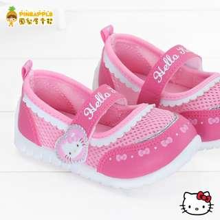《鳳梨屋童鞋》Hello Kitty 凱蒂貓 童話風透氣娃娃鞋【K718610-21】桃粉色 台灣製造 含運價