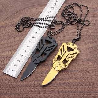 Transformers Knife Mini Necklace Blade  变形金刚小刀Mini随身项链刀
