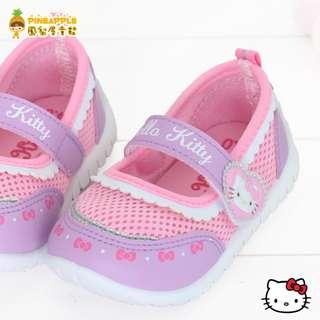 《鳳梨屋童鞋》Hello Kitty 凱蒂貓 童話風透氣娃娃鞋【K718610-6】紫色 台灣製造