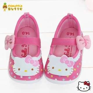 《鳳梨屋童鞋》Hello Kitty 凱蒂貓 繽紛彩球超甜美舒適娃娃鞋【K18607-2】桃色 台灣製造 含運價