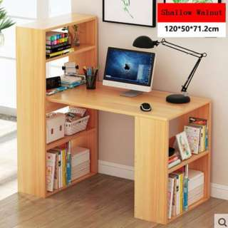 Study Table with Attached Bookshelves