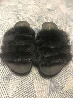 [二手]9成新/毛毛拖鞋