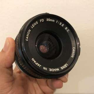 Canon FD 35mm 3.5 SC