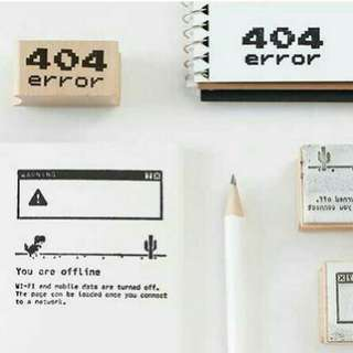 404 error Wooden stamps