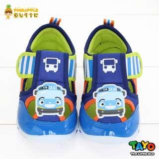 《鳳梨屋童鞋》TAYO 小巴士 經典小巴士超透氣柔軟休閒鞋【S83001-10】橘色 台灣製造
