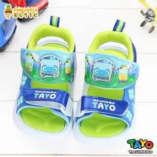 《鳳梨屋童鞋》TAYO 小巴士 舒適清新款電燈涼鞋 【S83815-3】藍色 台灣製造