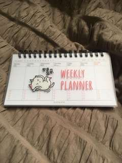 Cute Cat Weekly Planner