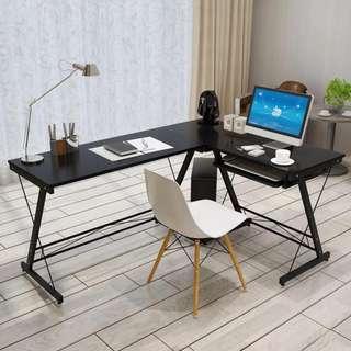 L-Shaped Office Desk Black Color OD-05A