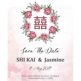 """SAVE-THE-DATE Mix of Modern & Traditional """"XI"""""""