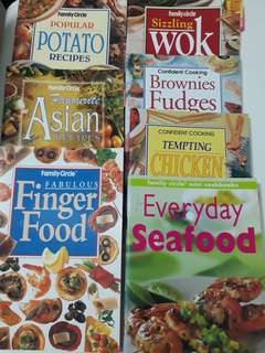 Set of 7 Cook books/recipe books by Family Circle