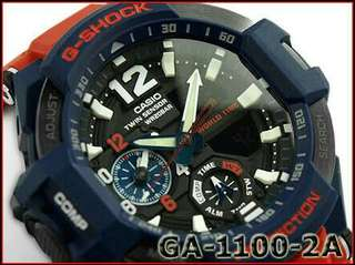 Gshock GA 1100 RED AND BLUE GRAVITY AVIATION 100% original authentic read specs below po.