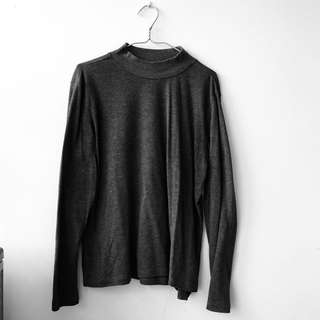 Basic Grey Turtleneck Pullover