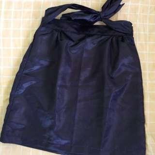 On hand silk skirt