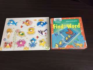 Wooden Puzzle & word game puzzle