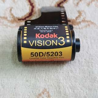 Kodak Vision 3 50D Motion Picture Cinema Film Roll ( 5203 Production Series ) 35mm