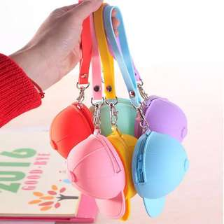 [NEW] Cute Silicon Cap Coin Purses Keychain for Boys Girls