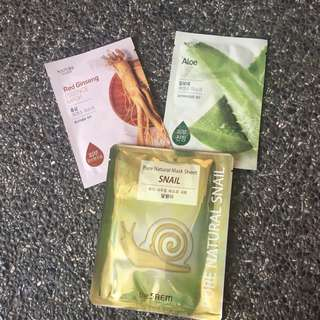 Korean Face Masks Promo Sale! 250 for 3!