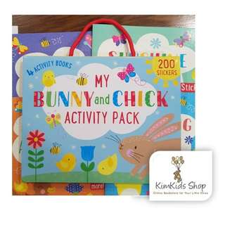 My Bunny and Chick Activity Books Box Set