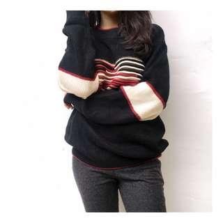 Sweater garis - mirip tommy hilfiger ✨