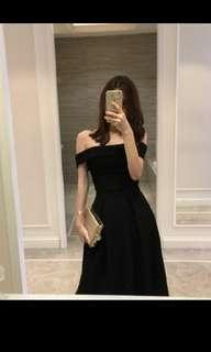 Black Off Shoulder top and skirt (2 piece)