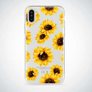 Sunflower Clear Case (all Iphone types)