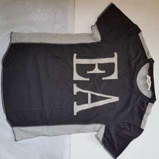 Armani, For Rock Star, Rare Designer Wear, Stylish, Fashionable Retro, Vintage, Collectables, New Old Stock, Beautiful Black Color 2 Tone with Grey, EA Emporio Armani Designer T-Shirt, ITALY