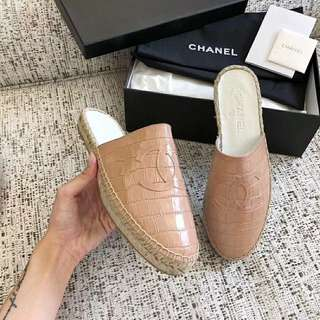 Chanel Loafer Croc Nude Pink (Perfect Grade & Premium Grade)