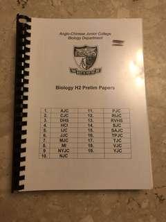 H2 Biology Prelim Papers (2011)