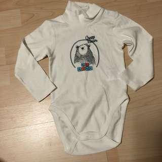 Baby turtleneck onesie
