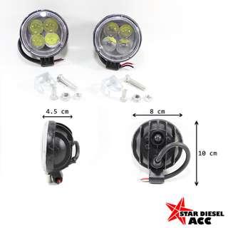 lampu sorot LED 4mata bulat spot