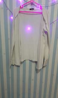 Cardigan / jaket putih / luaran putih / outer murah