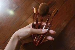 Rose Gold Paddle Brush Set