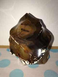 Premium Raw Black Agate Ore 1.5kg
