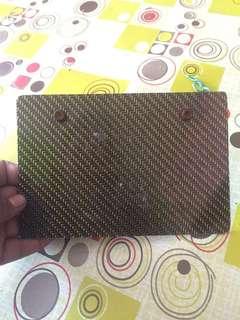 Papan Plate Carbon Fiber Reflect Gold
