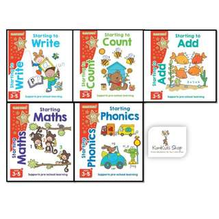 Gold stars Activity books set (3-5 years old)