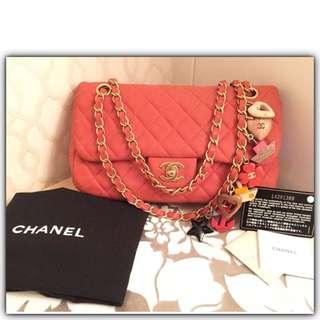 Chanel Medium 25cm Valentine Edition GHW#14