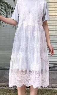 Korean lace 2 pcs dress
