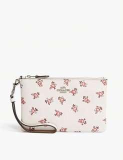 [預購]COACH Floral bloom print leather wristlet 小碎花手拿包💰2200$