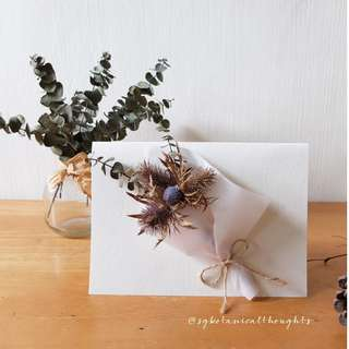 Handmade Dried Flower Bouquet Card / Decoration