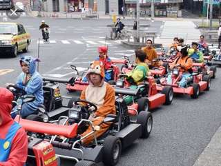 A pair of 1 hour street go kart tickets in Tokyo