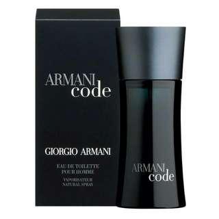 Armani Code Tester Perfume