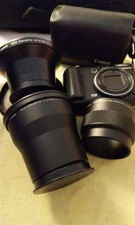 Canon G9 + converter lens + underwater housing & Inon D 2000 strobe light