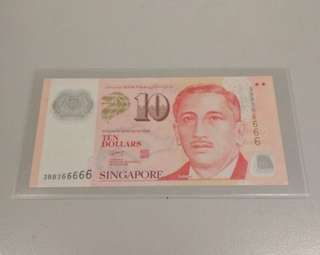 $10 note almost solid 3BB366666