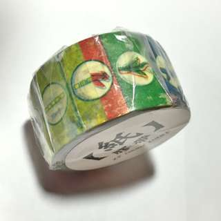 "Old Hong Kong Vintage looking ""Flying Chess"" masking tape  - good for notes, decorations, scrapbooking, wrapped gift."