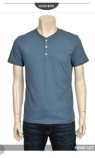 全新 中性 Evisu Tee 韓國版 絕對正版 男女合穿 卡其深藍色中碼